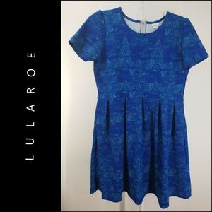 Lularoe Women's Fit & Flare Dress Size 3XL Blue